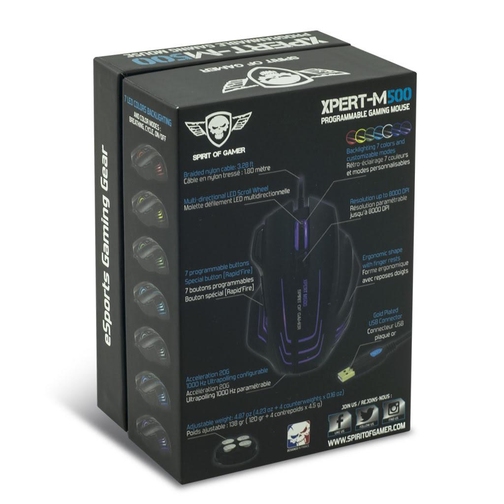 Spirit Of Gamer XPERT-M500 - Souris PC Spirit Of Gamer - 7