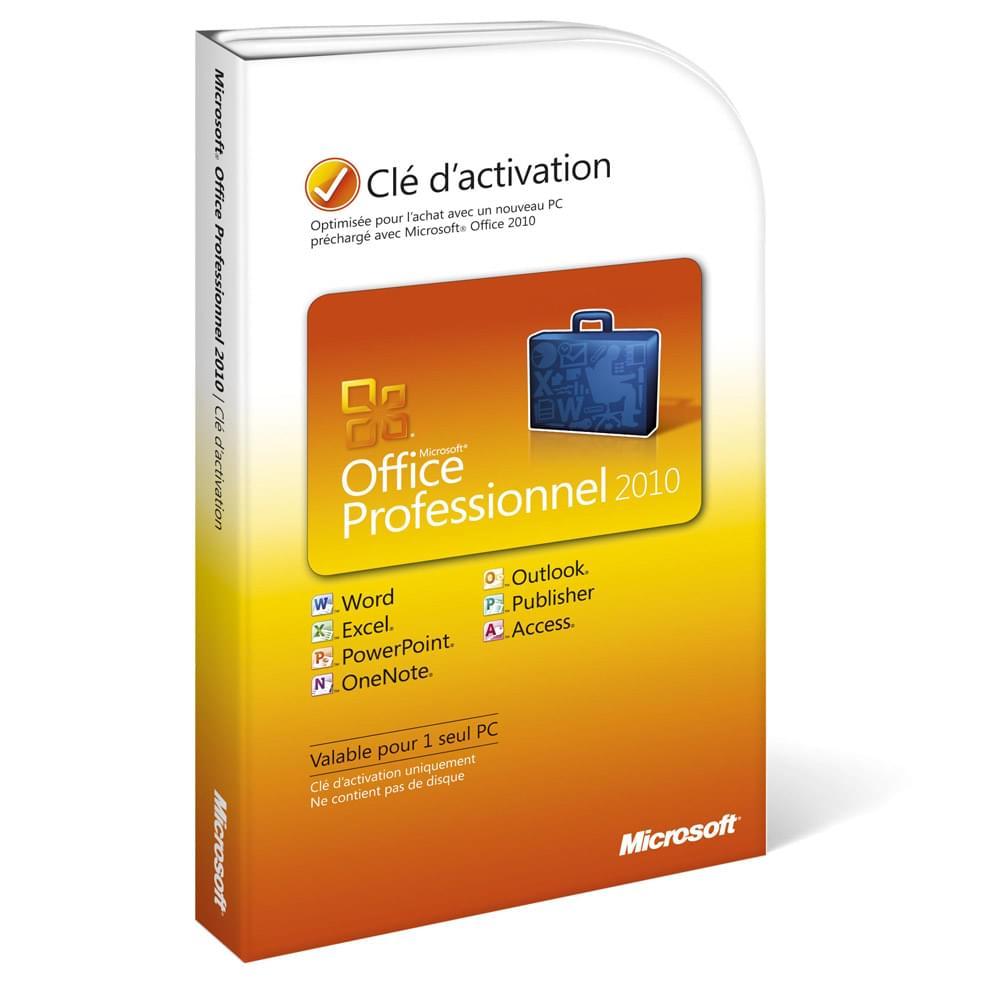 Microsoft Office Professionnel 2010 DOEM Cybertek - Logiciel suite bureautique - 0