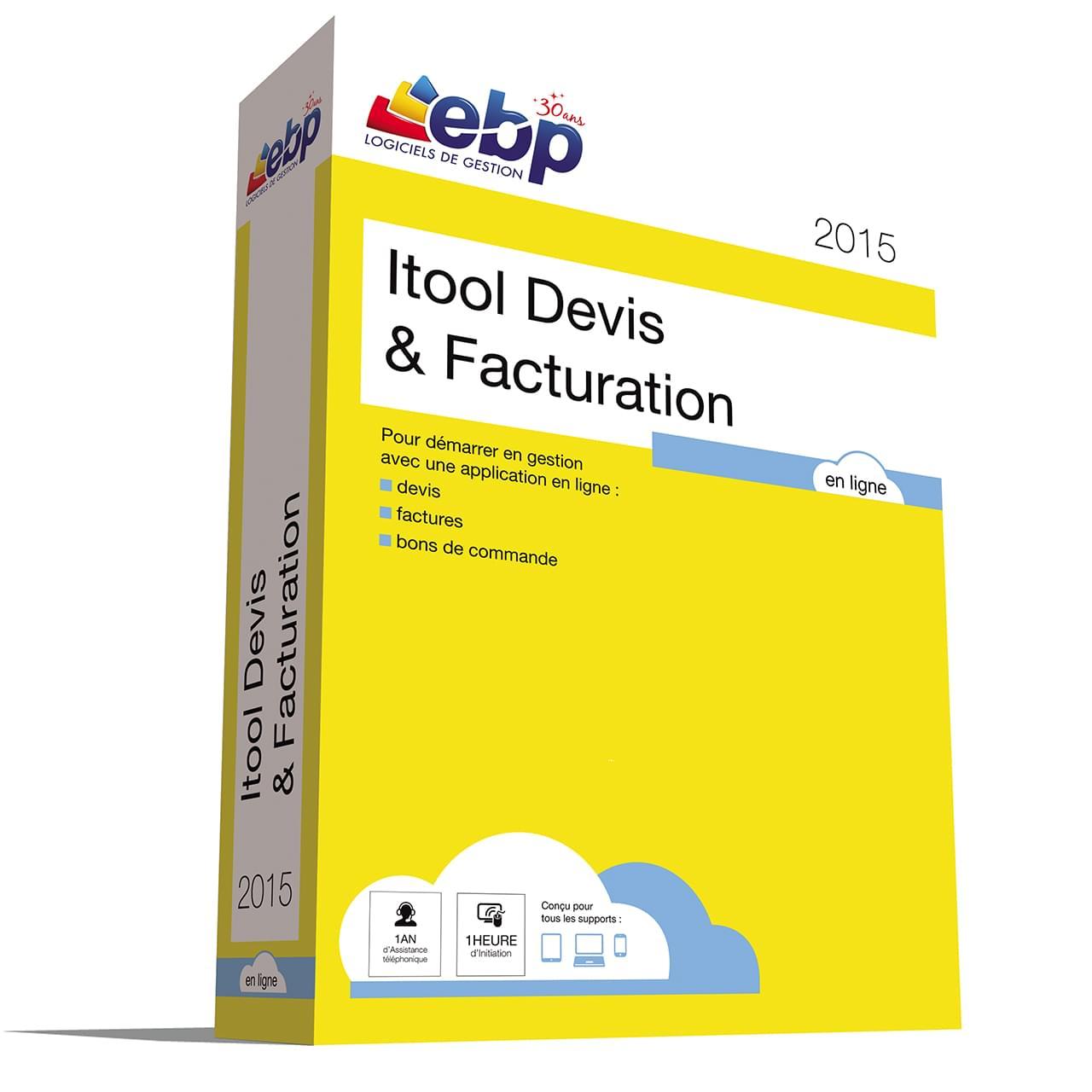 EBP Itool Devis & Facturation En Ligne 2015 (9071A000FAH) - Achat / Vente Logiciel application sur Cybertek.fr - 0