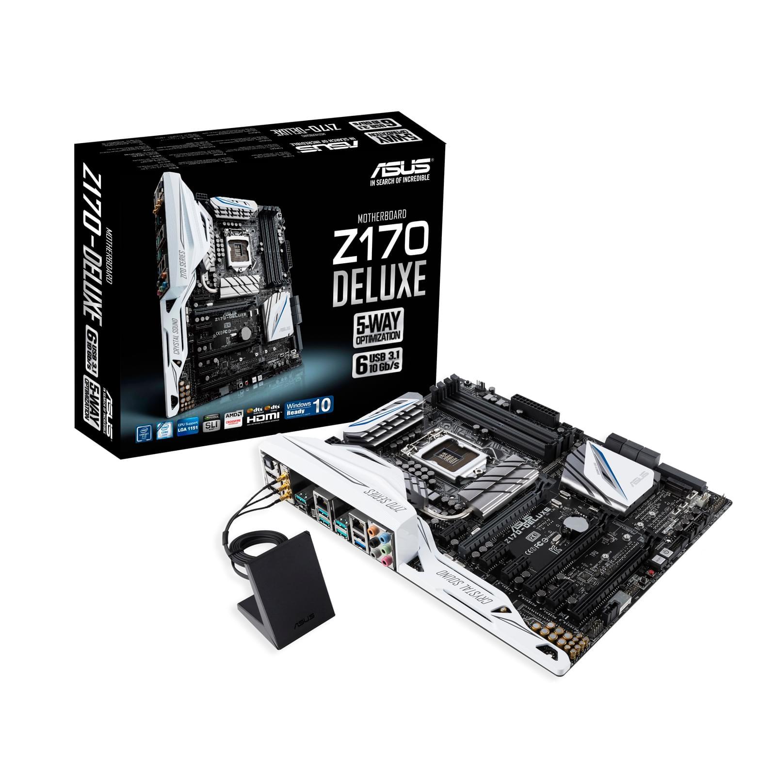 Asus Z170-Deluxe (Z170-Deluxe soldé) - Achat / Vente Carte Mère sur Cybertek.fr - 0