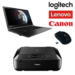 CYBERTEK Offre groupée NB Lenovo B50-10+Logitech M175+Canon MG5750+câble Cybertek