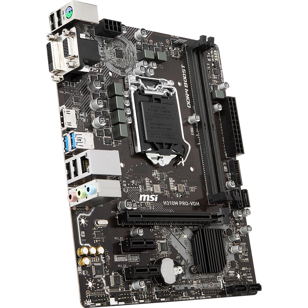 MSI H310M PRO-VDH Micro-ATX DDR4 - Carte mère MSI - Cybertek.fr - 3