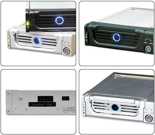 Icy Box SATA 1&2 (IB-128SK-B soldé) - Achat / Vente Tiroir Extractible sur Cybertek.fr - 0