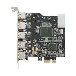 No Name PCI-E  5 ports USB2 ext. + 1 port int. (307816) - Achat / Vente Carte contrôleur sur Cybertek.fr - 0