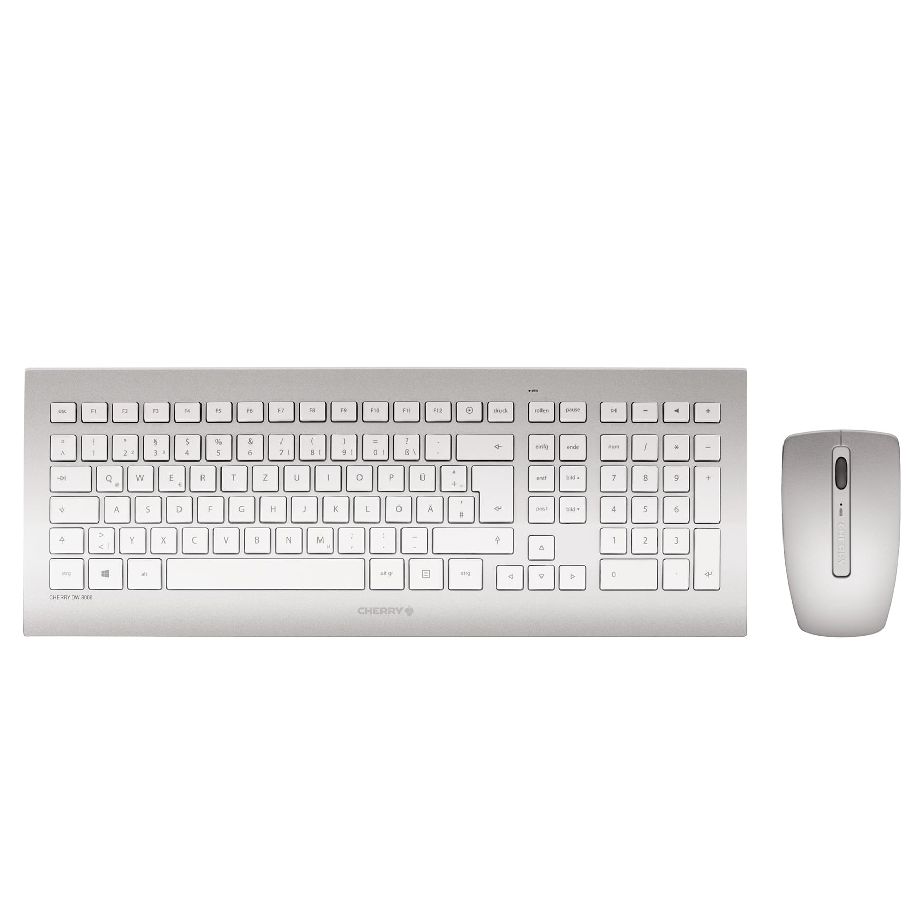 Cherry DW 8000 (blanc/silver) - Pack Clavier/Souris - Cybertek.fr - 0