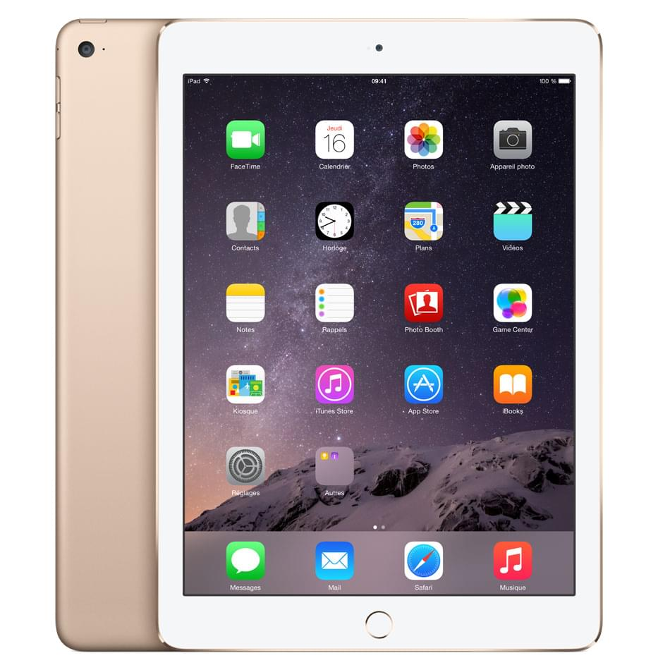 Apple iPad Air 2 Wi-Fi 64Go Or (MH182NF/A) - Achat / Vente Tablette Tactile sur Cybertek.fr - 0