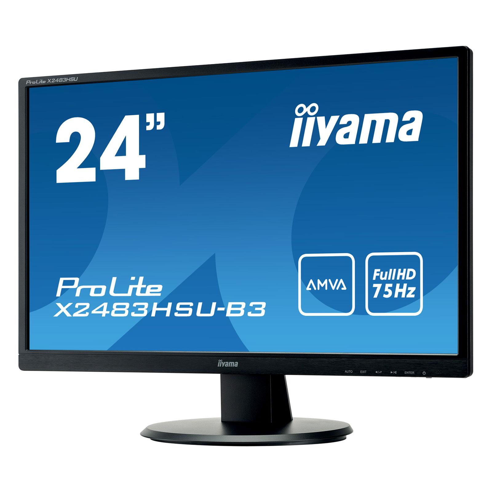 """Iiyama 24""""  X2483HSU-B3 - Ecran PC Iiyama - Cybertek.fr - 3"""