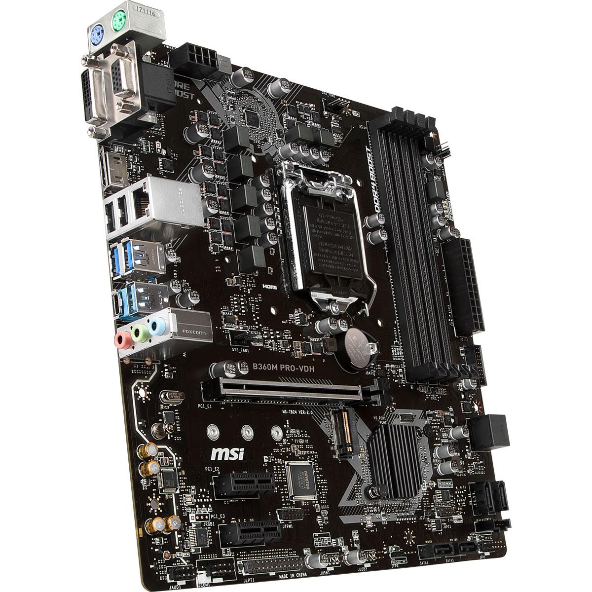 MSI B360M PRO-VDH Micro-ATX DDR4 - Carte mère MSI - Cybertek.fr - 2