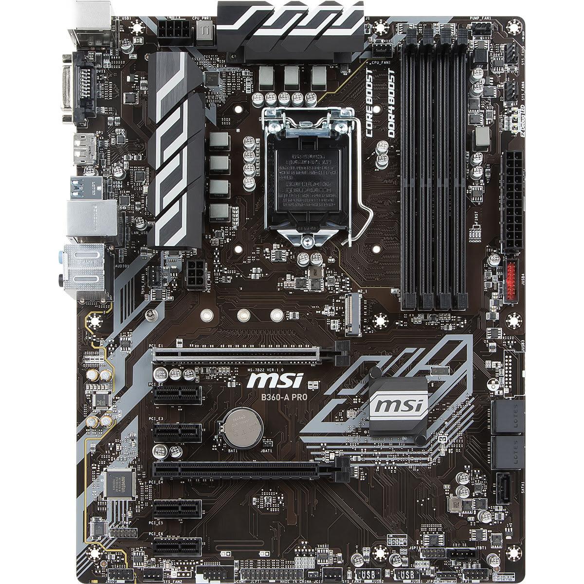 MSI B360-A PRO ATX DDR4 - Carte mère MSI - Cybertek.fr - 4