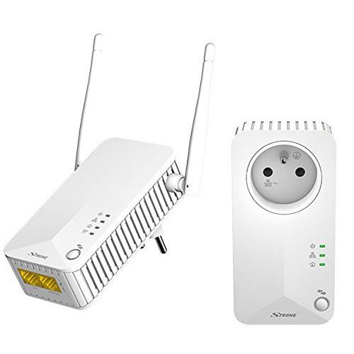Strong Kit CPL Wi-Fi 500+300 - Adaptateur CPL - Cybertek.fr - 0