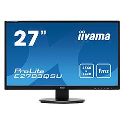 "image produit Iiyama E2783QSU-B1 - 27"" LED/1ms/WQHD/HDMI/DP/USB # Cybertek"