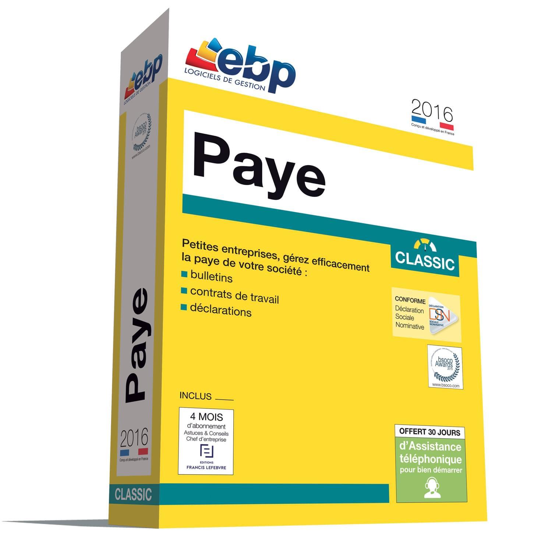 EBP Paye Classic OL 2016 (1025J080FAA) - Achat / Vente Logiciel Application sur Cybertek.fr - 0