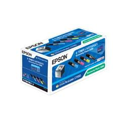 Toner Economy pack Noir,Jaune,Cyan,Mag C13S050268 pour imprimante Laser Epson - 0
