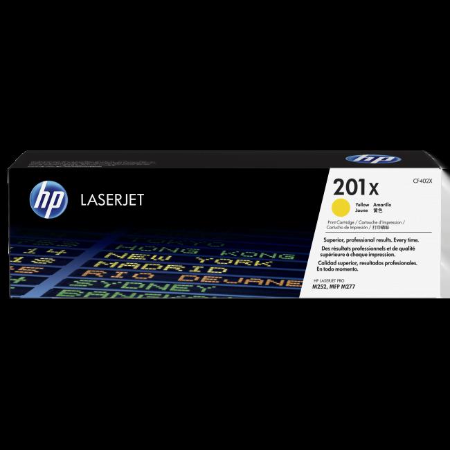 HP Toner 201X Jaune 2300p (CF402X) - Achat / Vente Consommable Imprimante sur Cybertek.fr - 0
