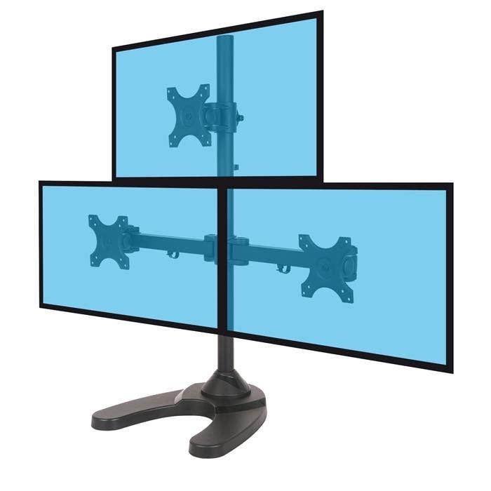 """Support de bureau 3 écrans - 13"""" 27"""" - Accessoire écran - 0"""