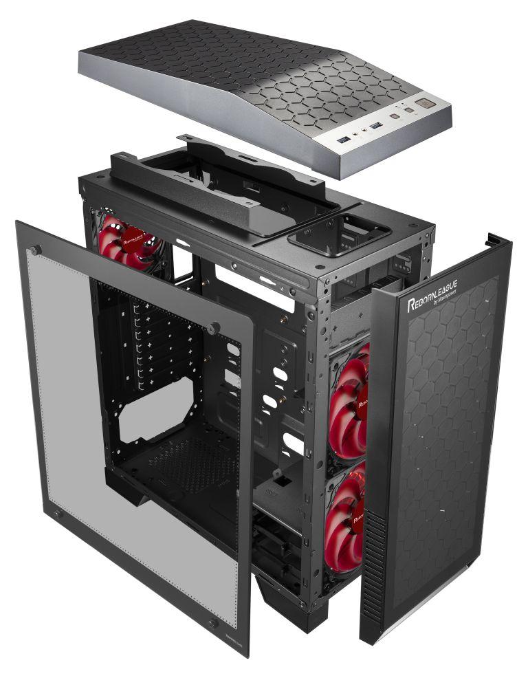 RebornLeague MT/Sans Alim/ATX/USB3.0 Noir - Boîtier PC - 1