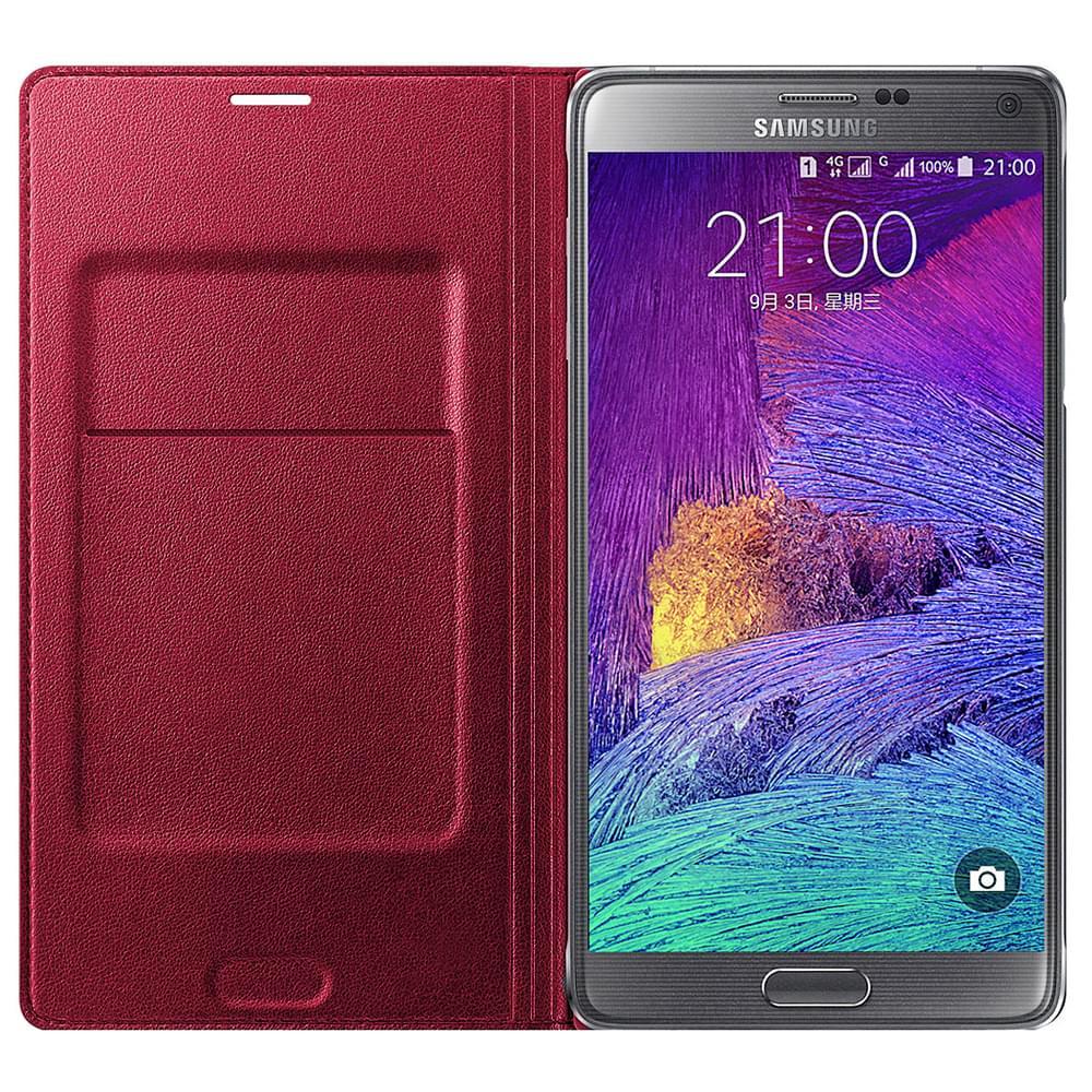 Samsung Flip Wallet Galaxy Note 4 EF-WN910B (lie-de-vin) (EF-WN910BREGWW) - Achat / Vente Accessoire Téléphonie sur Cybertek.fr - 0