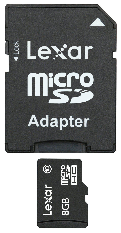 Lexar Micro SDHC 8Go class 10 + Adapt. LSDMI8GBABEUC10A (LSDMI8GBABEUC10A) - Achat / Vente Carte mémoire sur Cybertek.fr - 0