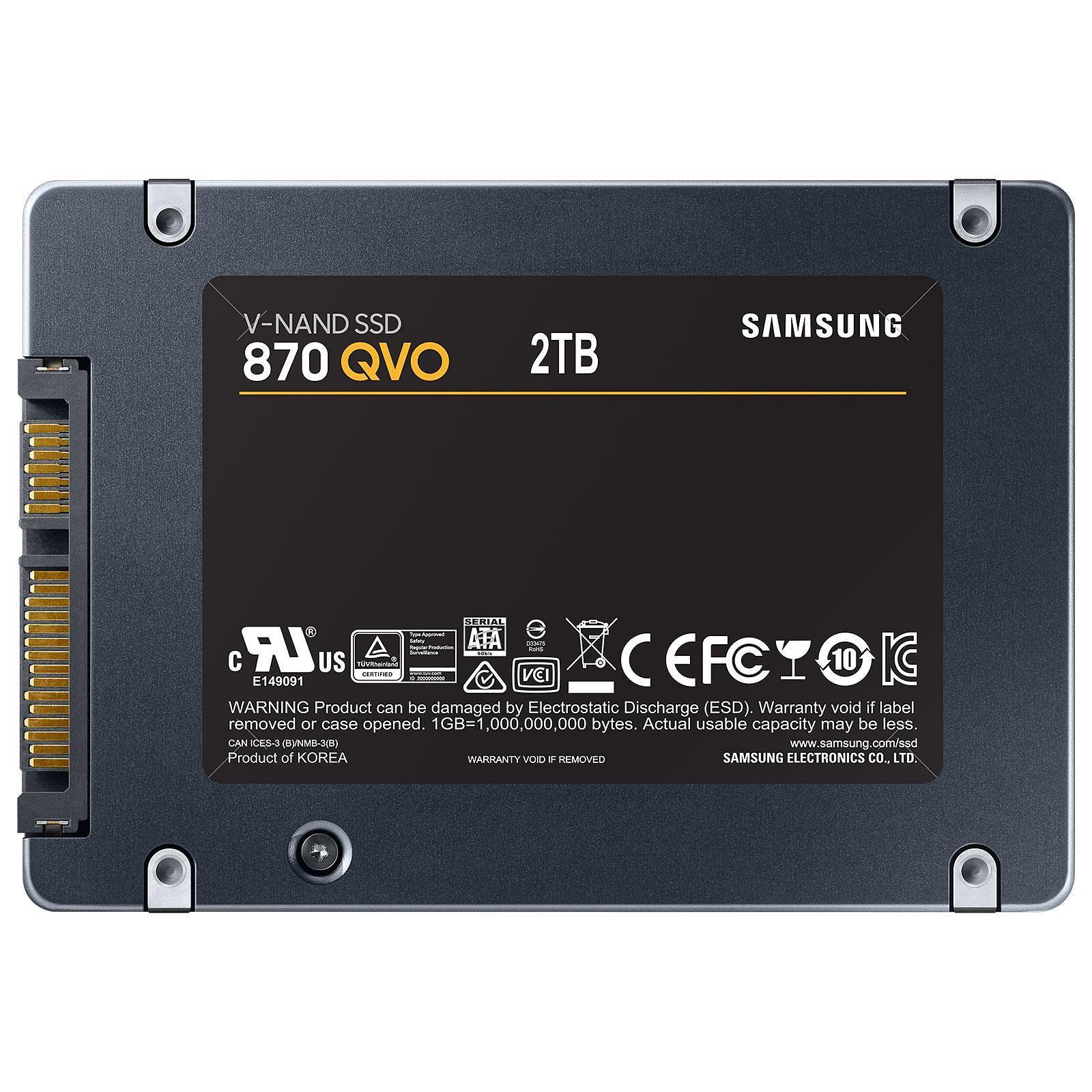 Samsung 870 QVO 2To SATA III - Disque SSD Samsung - Cybertek.fr - 1