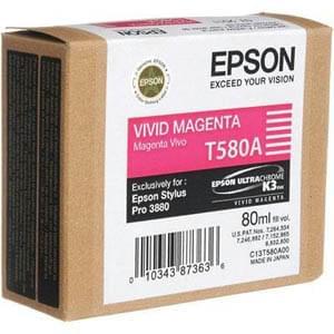 Cartouche Vivid Magenta T580A00 pour imprimante Jet d'encre Epson - 0