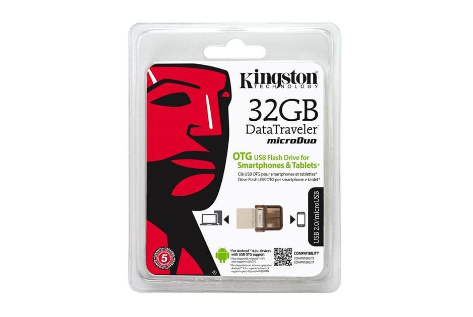 Kingston 32Go USB2+microUSB MicroDuo - Clé USB Kingston - 0