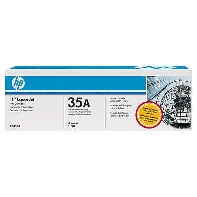 Toner CB435A Noir 1500p pour imprimante Laser HP - 0