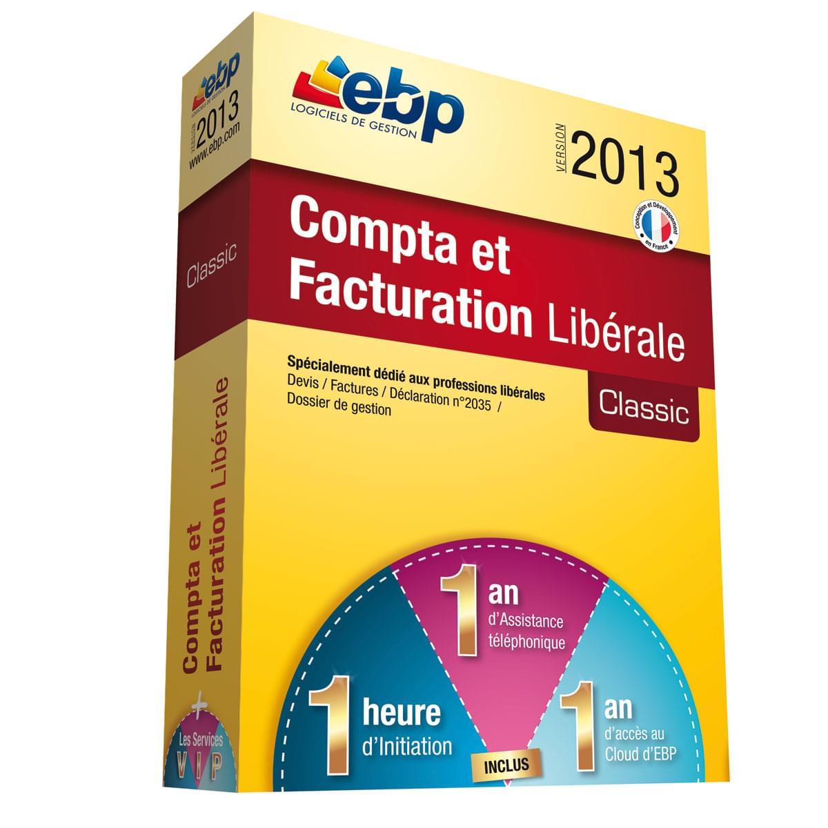 EBP Compta et Facturation Libérale 2013 + Services VIP (1161J051FAA) - Achat / Vente Logiciel Application sur Cybertek.fr - 0