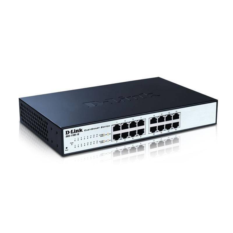 D-Link 16 ports 10/100/1000Mbps DGS-1100-16 (DGS-1100-16) - Achat / Vente Switch sur Cybertek.fr - 0