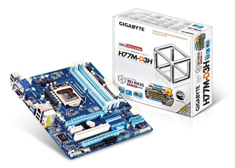 Gigabyte H77M-D3H - Carte mère Gigabyte - Cybertek.fr - 0