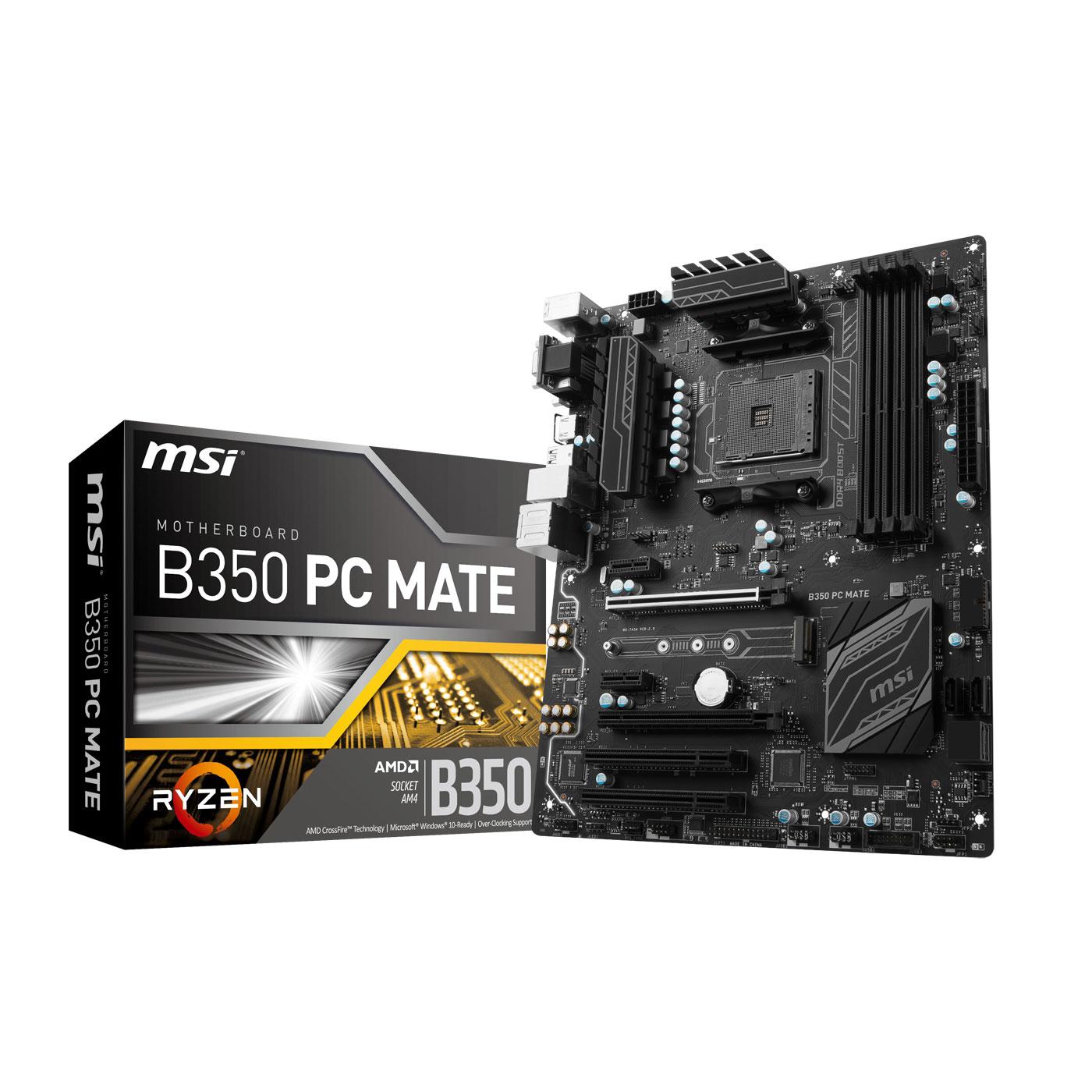 MSI B350 PC MATE ATX DDR4 - Carte mère MSI - Cybertek.fr - 0