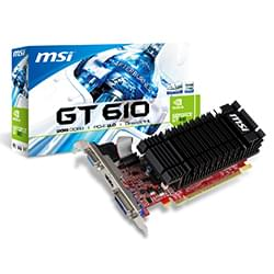 MSI Carte Graphique N610-2GD3H/LP - GT610/2Go/DVI/HDMI Cybertek
