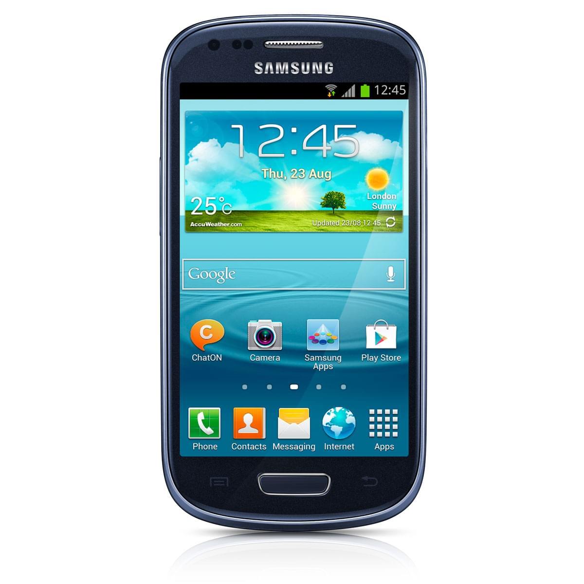 Samsung Galaxy S3 Mini GT-I8190 8Go Bleu - Téléphonie Samsung - 0
