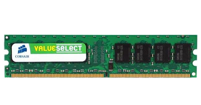Corsair Value Select VS1GB667D2 1Go DDR2 666MHz PC5300 - Mémoire PC Corsair sur Cybertek.fr - 0