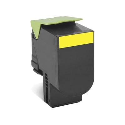 Toner Jaune 802SY - 80C2SY0 pour imprimante Laser Lexmark - 0