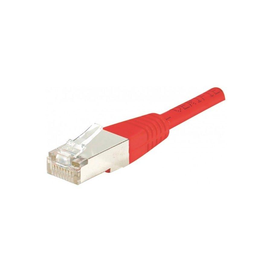 Cordon Cat 6, 4P Moule 1.00 m FTP Rouge - Connectique réseau - 0
