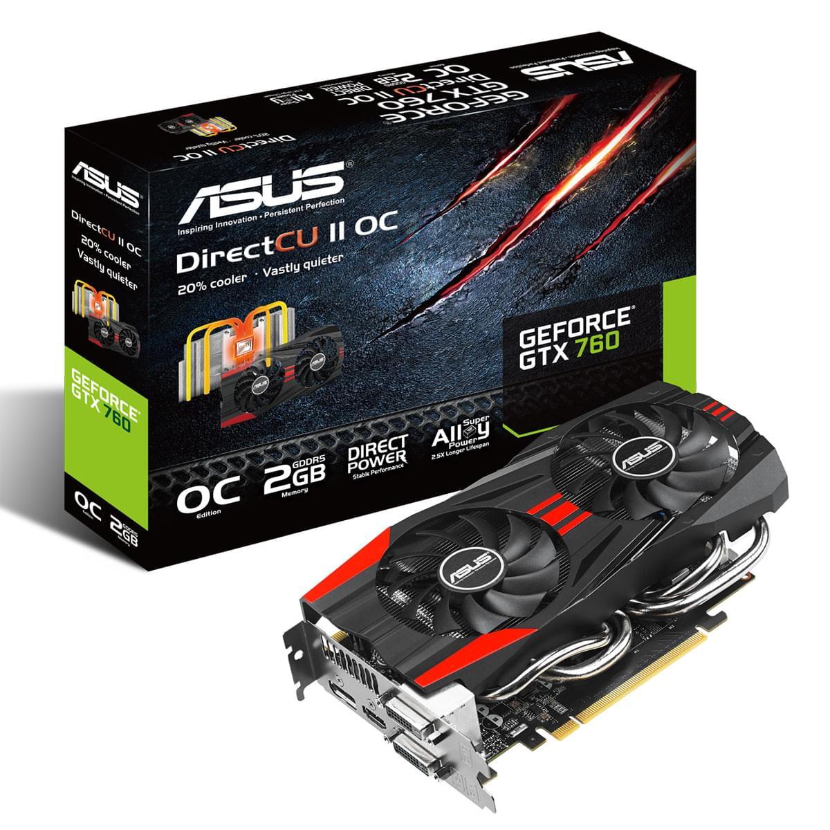 Asus GTX760-DC2OC-2GD5  - Carte graphique Asus - Cybertek.fr - 0