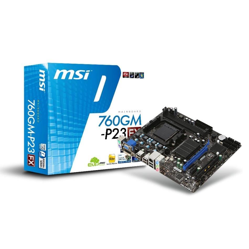 MSI 760GM-P23 Micro-ATX DDR3 - Carte mère MSI - Cybertek.fr - 0