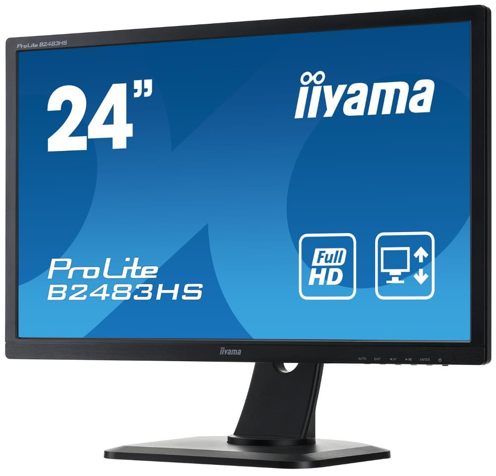 Iiyama B2483HS-B1 (B2483HS-B1) - Achat / Vente Ecran PC sur Cybertek.fr - 0