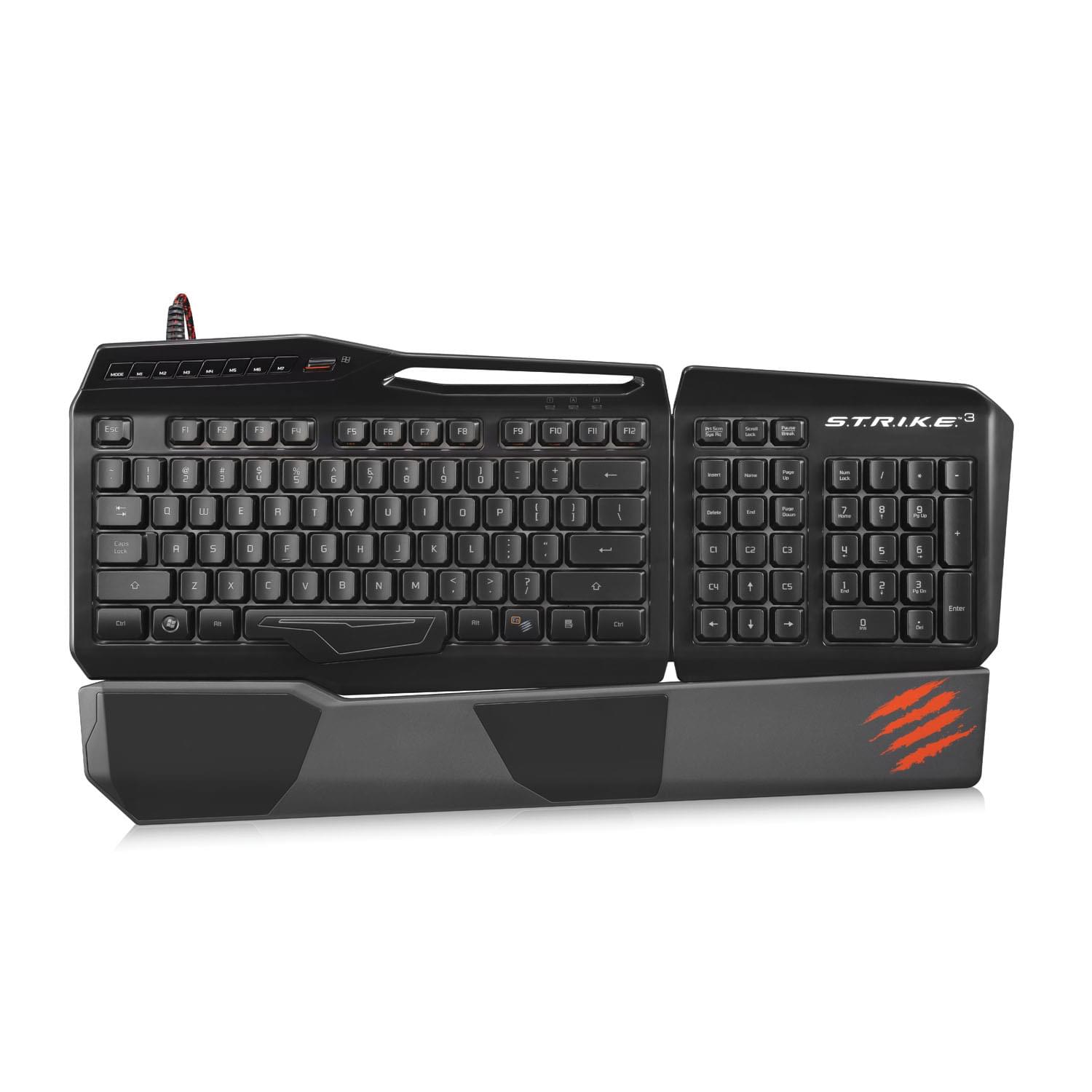 Clavier PC Gamer MAD CATZ STRIKE 3 Glossy Black - 0