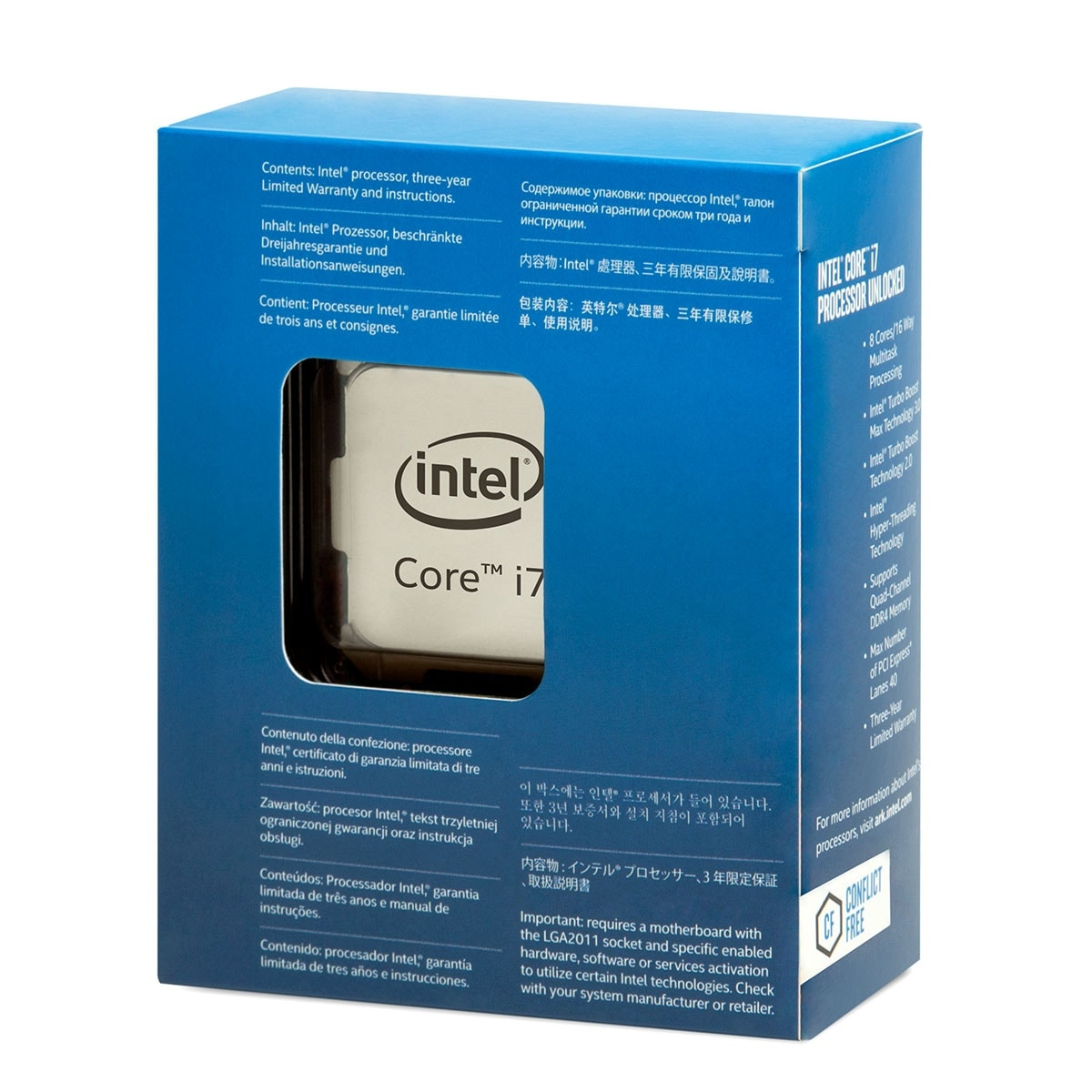Processeur Intel Core i7 6850K - 3.6GHz - Gamer -  - 1