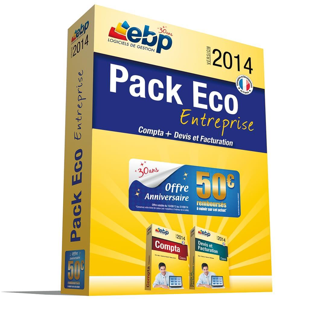 EBP Pack Eco Entreprise 2014 (1166J060FAF) - Achat / Vente Logiciel application sur Cybertek.fr - 0