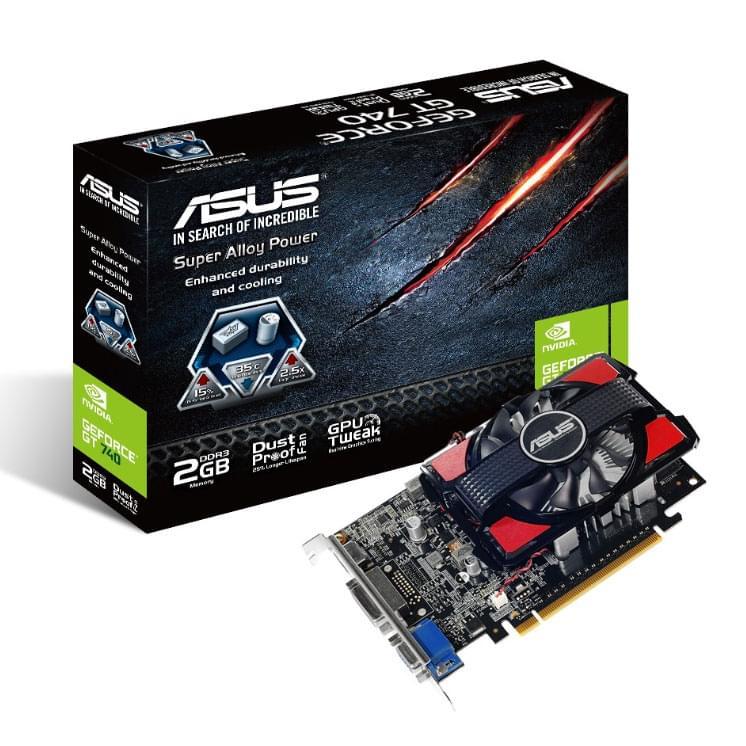 Asus nVidia GF GT serie 700 - 2Go - carte Graphique PC - GPU nVidia - 0