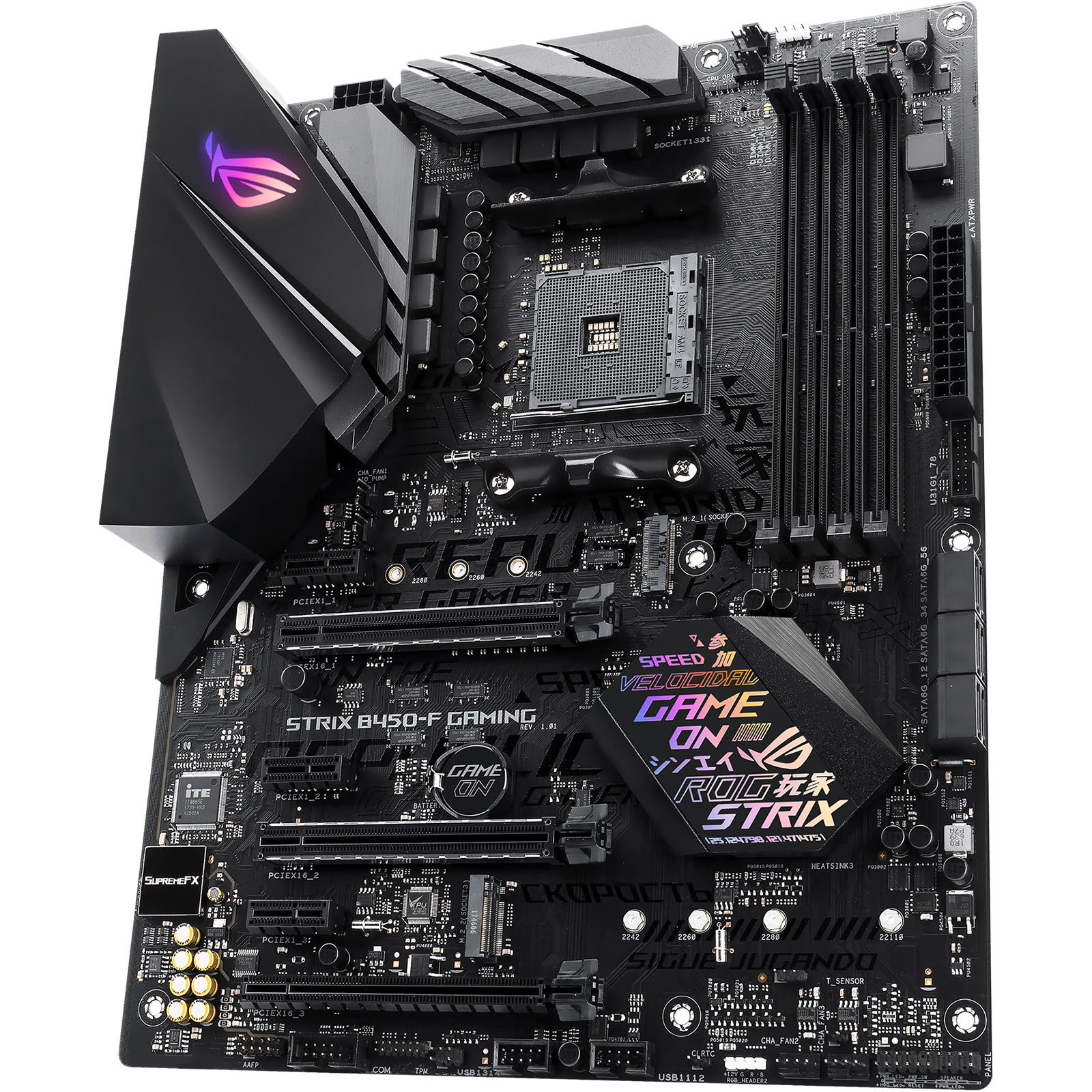 carte mère pc gamer Asus ROG STRIX B450 F GAMING ATX DDR4   Carte mère Asus