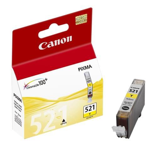 Cartouche CLI-521Y Jaune - 2936B001 pour imprimante Jet d'encre Canon - 0