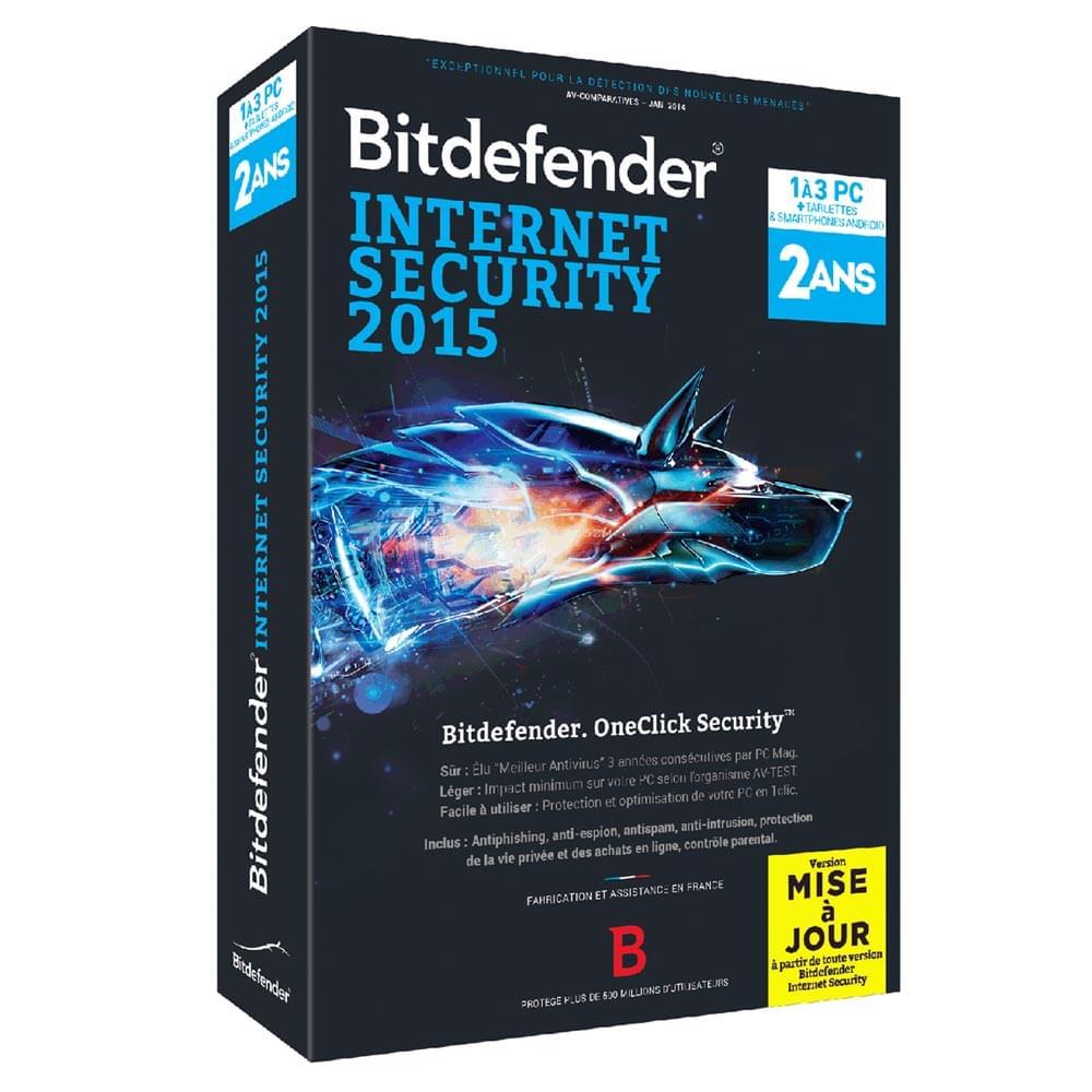 Bitdefender MAJ Internet Security 2015 (BMFBDIS-5X2P003) - Achat / Vente Logiciel sécurité sur Cybertek.fr - 0