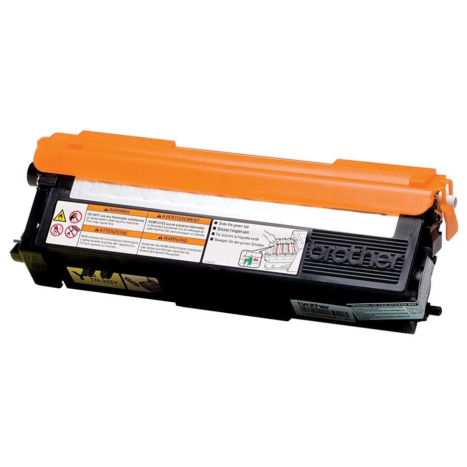 Toner TN320Y Jaune - 1500p pour imprimante Laser Brother - 0