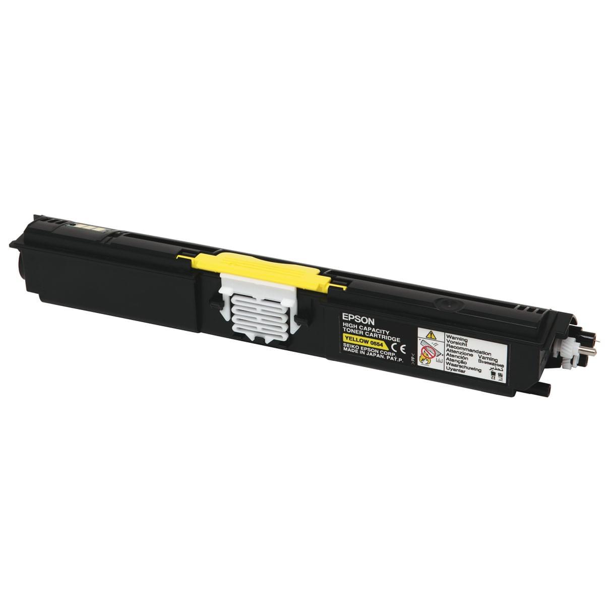 Toner Jaune Haute Capacite 2700p - C13S050554 pour imprimante Laser Epson - 0