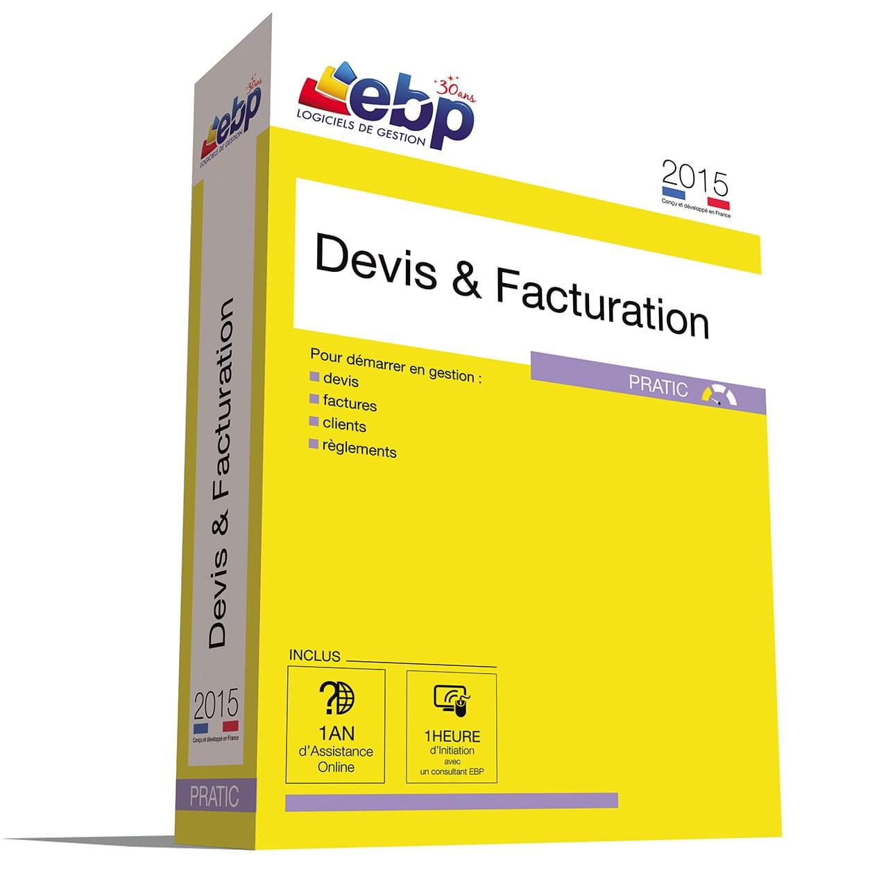EBP Devis & Facturation Pratic 2015 + VIP (1008E071FAB) - Achat / Vente Logiciel application sur Cybertek.fr - 0