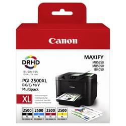 image produit Canon Pack 4 Cartouches BK,C,M,Y PGI-2500XL - 9254B004 Cybertek