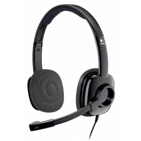 Logitech Stereo Headset 250 Graphite (981-000354) - Achat / Vente Micro-casque sur Cybertek.fr - 0